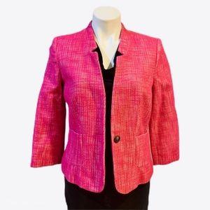 NWOT Banana Republic Tweed Pink Blazer